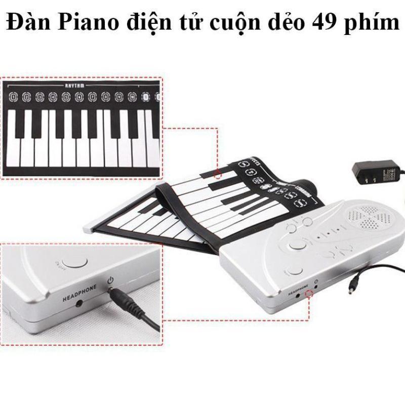 Đàn Piano Điện Tử,Đàn Piano Cuộn Lên 49 Phím, Đàn Piano Mềm Linh Hoạt Silicone Có Thể Gập Lại được đàn xinh xắn- nhỏ gọn . Thế Giới Đàn Piano Tại Tp HCM  Đàn Piano Giá Rẻ .