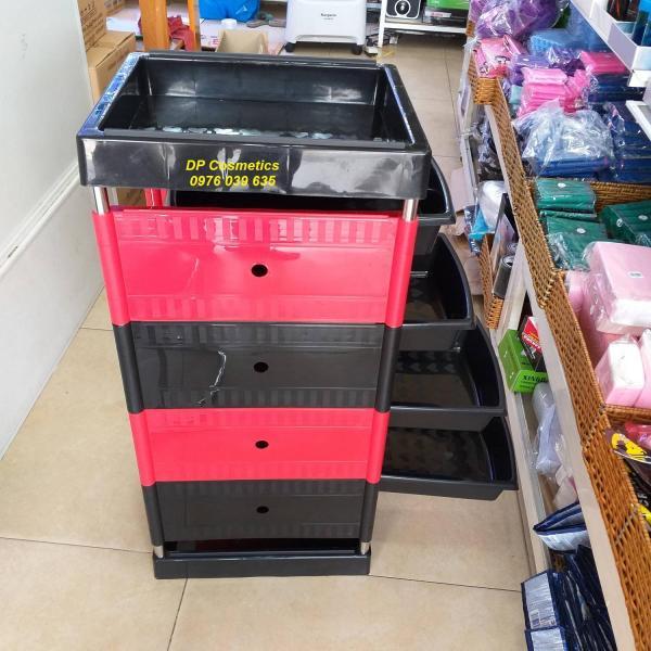 Xe đẩy 5 tầng dụng cụ ngành tóc  KMD-039 giá rẻ