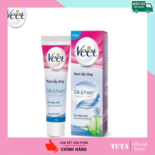 TUTA - Kem tẩy lông cho da nhạy cảm Veet hiệu quả an toàn tại nhà KTL-1