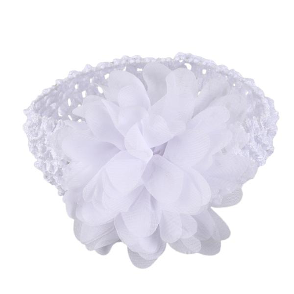 Mua Baby Girls Chiffon Flower Headband Dress Up Headband (White)