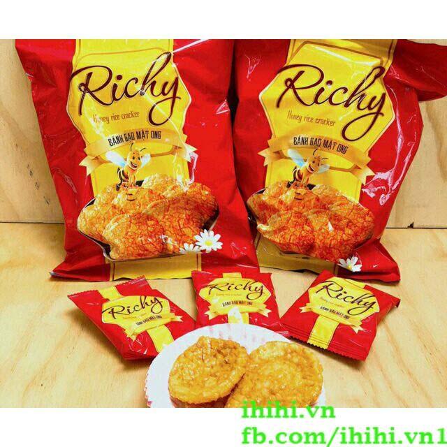 Bánh gạo Mật Ong Richy 108g (Bịch 14 bánh)