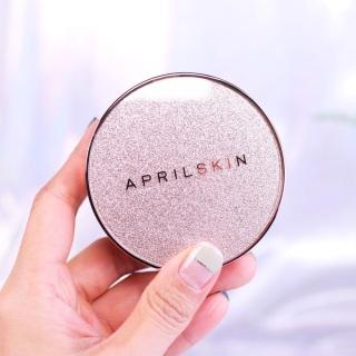 Phấn nước che phủ hoàn hảo nhà April Skin Magic Essence Mist Cushion SPF50+ PA++++ 13g thumbnail