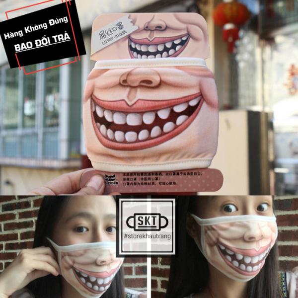 Khẩu Trang 3D Mặt Người Hài Hước Hóm Hĩnh