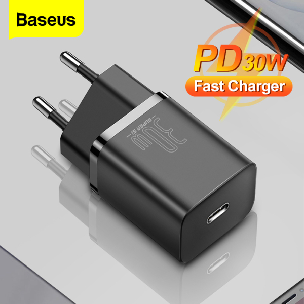 Baseus 30W USB C Charger For iPhone 12 11 Pro Max Super Si  Type C Charger QC 3.0 PD 3.0 Fast Charging Portable Phone Charger For Samsung S20 S21 Ultra Xiaomi 10 Pro