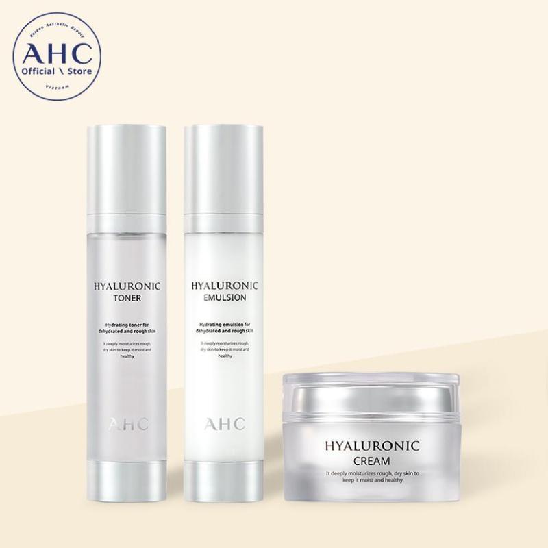 Bộ sản phẩm dưỡng da AHC Hyaluronic 3pcs Kit (Toner 30ml+ Lotion 30ml + Cream 10ml) cao cấp