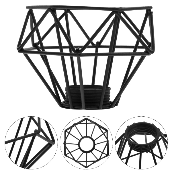 Bảng giá Ouruola【Ready Stock】Hollow-out Iron Diamond Shape Lamp Shade Retro Light Shade Chandelier Cover