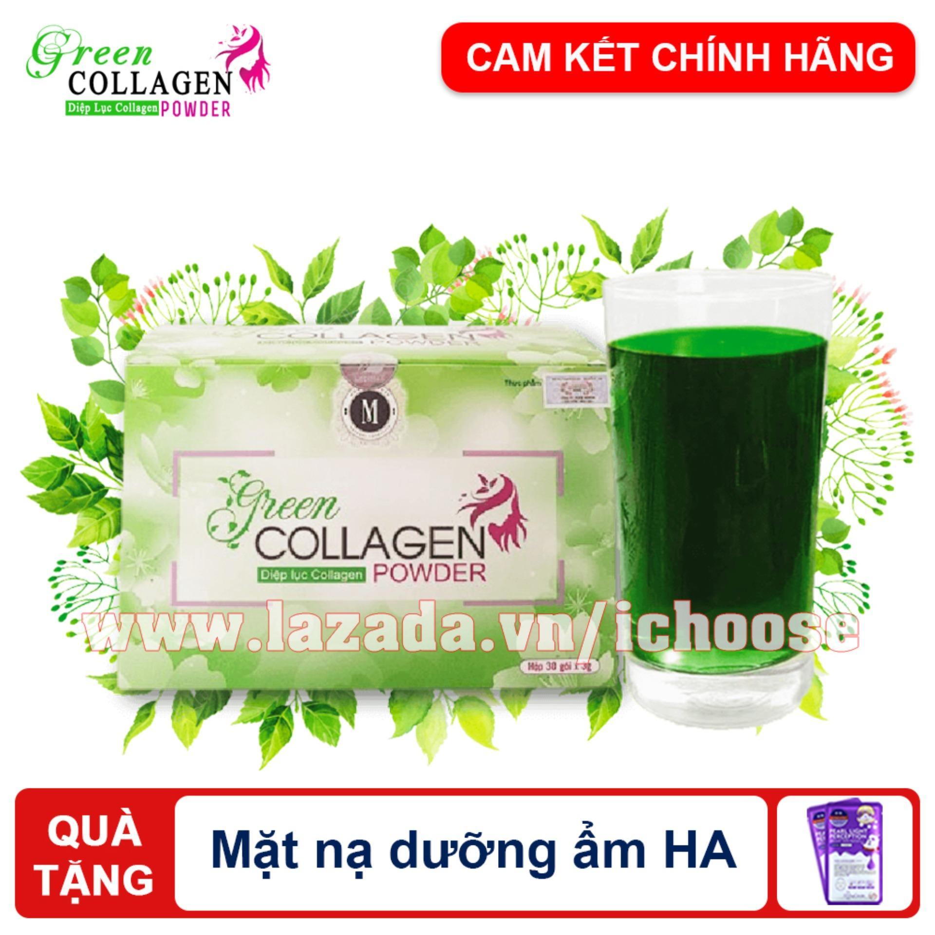 Diệp lục Collagen - Da đẹp, dáng thon, cải thiện sinh lý nữ - Tặng mặt nạ dưỡng ẩm