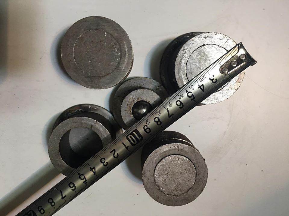 1 bộ Bản lề cối xoay sắt cho 2 cánh cửa - Loại đường kính 5,1cm
