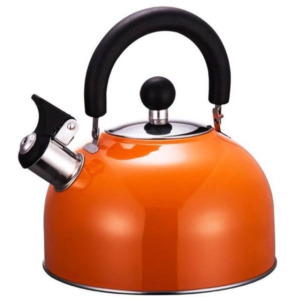Ấm đun nước bếp từ Faster 2.5L mầu cam, xanh chuyên dụng cho bếp từ