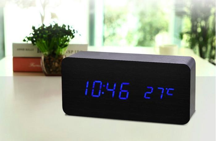 Nơi bán Đồng Hồ Để bàn bằng gỗ - LED (7 mẫu - Có Video thật) Kiêm Báo Thức & Nhiệt Kế DH003
