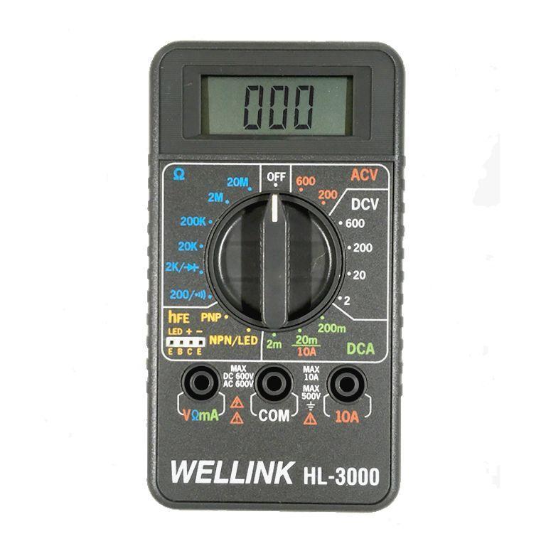 ĐỒNG HỒ VẠN NĂNG BỎ TÚI WELLINK HL-3000