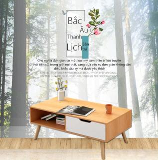 Bàn trà gỗ bàn uống nước bàn nhỏ phòng khách bàn trà gỗ đơn giản hiện đại Bắc Âu bàn kê ban công bàn gỗ nhỏ đơn giản trẻ trung bàn nội thất phòng khách bàn sô pha thumbnail