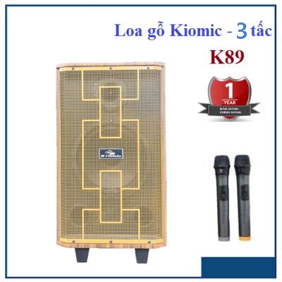 [ HÀNG CHẤT LƯỢNG ]Loa Di Động Loa Bluetooth Loa Karaoke Kiomic K89 Loa Kẹo Kéo. Loa Thùng Gỗ Bass Hay Kiomic K89 Tặng Kèm 2 Mic Không Dây Loa Kéo Đa Năng Cỡ Lớn Vân Gỗ Cao Cấp Âm Thanh Hay Hát Karaoke Si.Êu Hay,Công Suất 300W,Loa 3 Tấc
