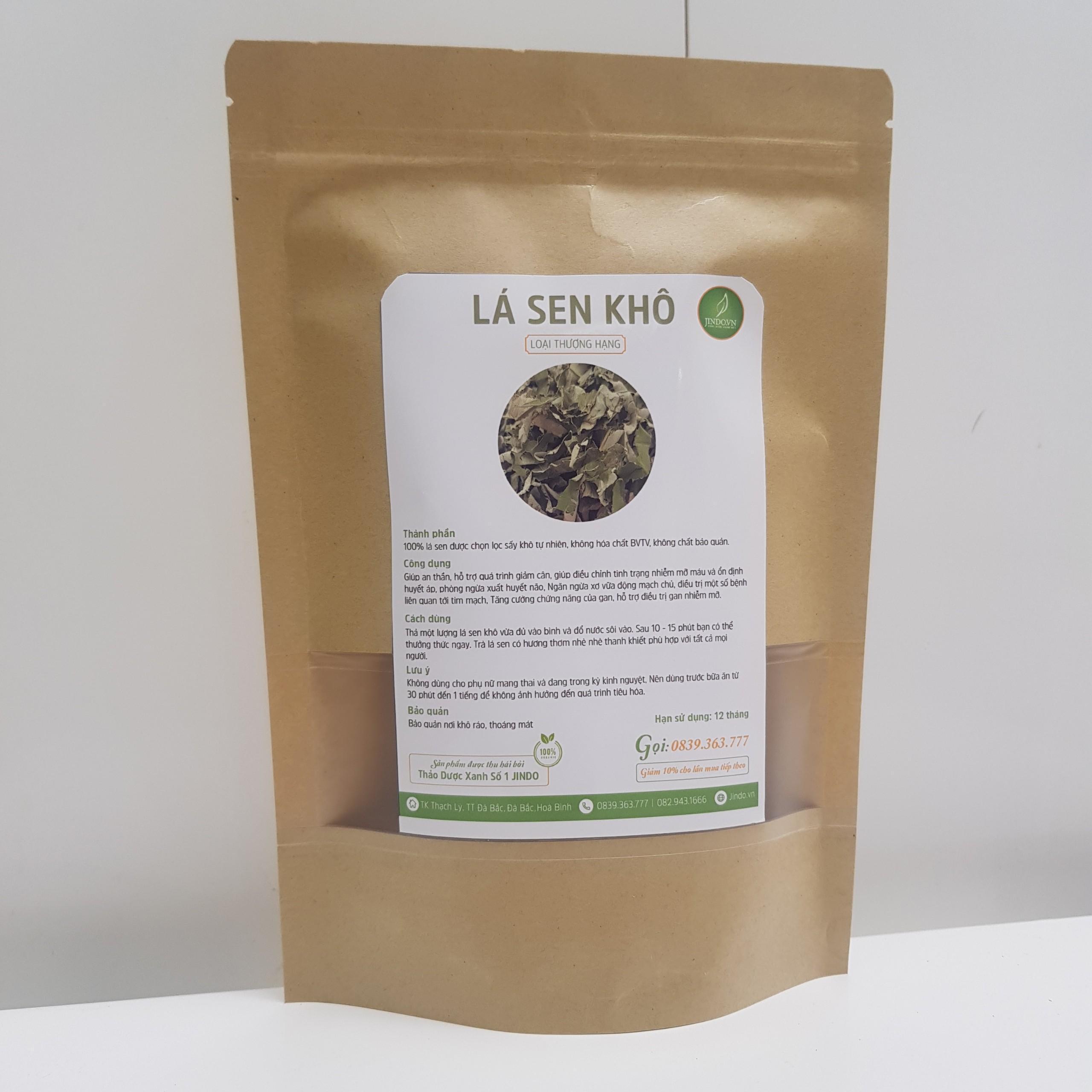 Trà lá sen sấy khô 100gram loại thượng hạng - JD005A - Jindo