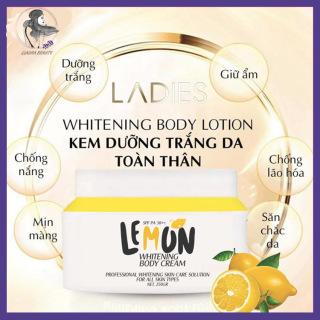 Kem Dưỡng Trắng Da Body Chanh Lemon Q-LADY 2020, Dưỡng Trắng Da Toàn Thân, Dưỡng Ẩm, Ủ Trắng, Chống Nắng, Chống Lão Hoá, Cho Làn Da Trắng Sáng, Mịn Màng, Trẻ Trung Whitening Body Cream 250 Gr Lemon Da Body Claura Beauty thumbnail