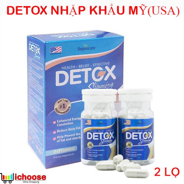 Detox Slimming Capsules USA Nhập Khẩu Mỹ - Viên uống hỗ trợ giảm cân, loại bỏ mỡ thừa hiệu quả