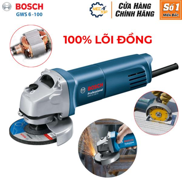 Máy mài góc, máy cắt cầm tay Bosh 6 - 100 - Máy mài điện dùng động cơ lõi đồng nguyên chất
