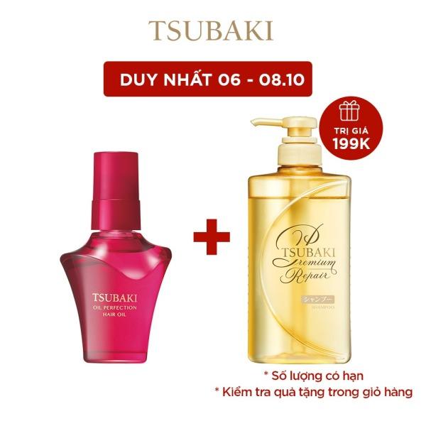 [MUA 1 TẶNG 1] Dầu dưỡng tóc TSUBAKI Phục hồi hư tổn 50mL PERFECTION HAIR OIL 50ML