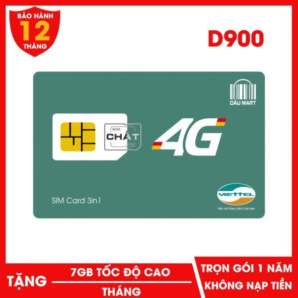 SIM DCOM Viettel 4G dùng Free 1 Năm D900 Với 7GB/Tháng Không Cần Nạp Tiền