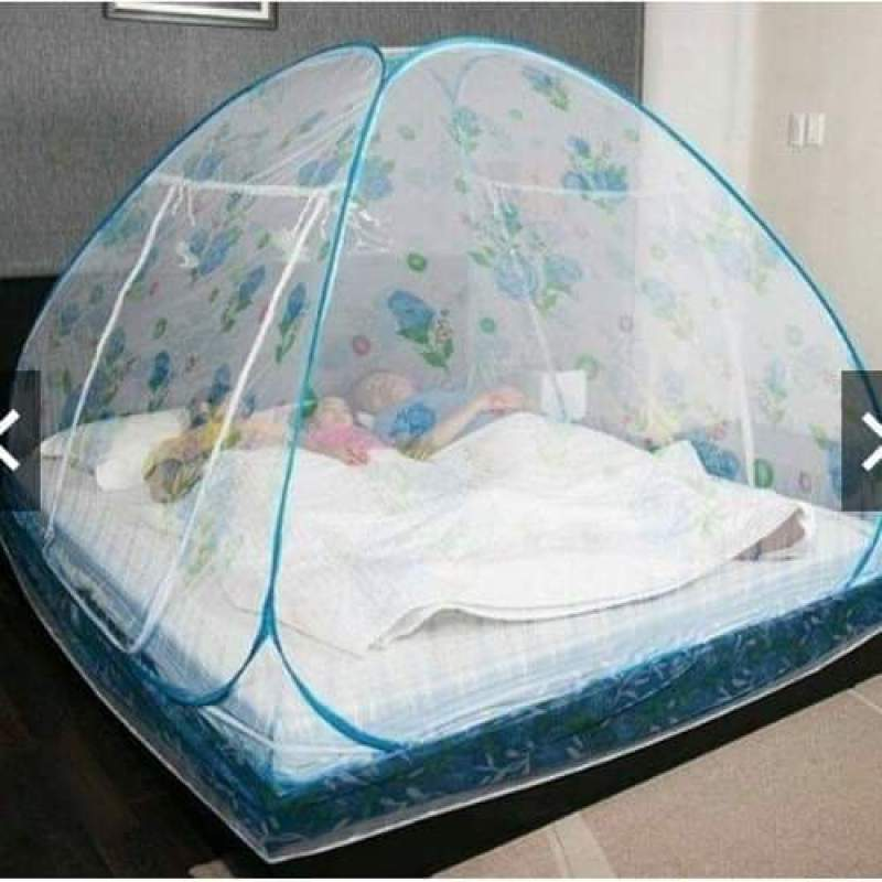 Màn chụp tự bung có đáy chống muỗi cao cấp 1m6 1m8, màn chụp tự bung cho bé