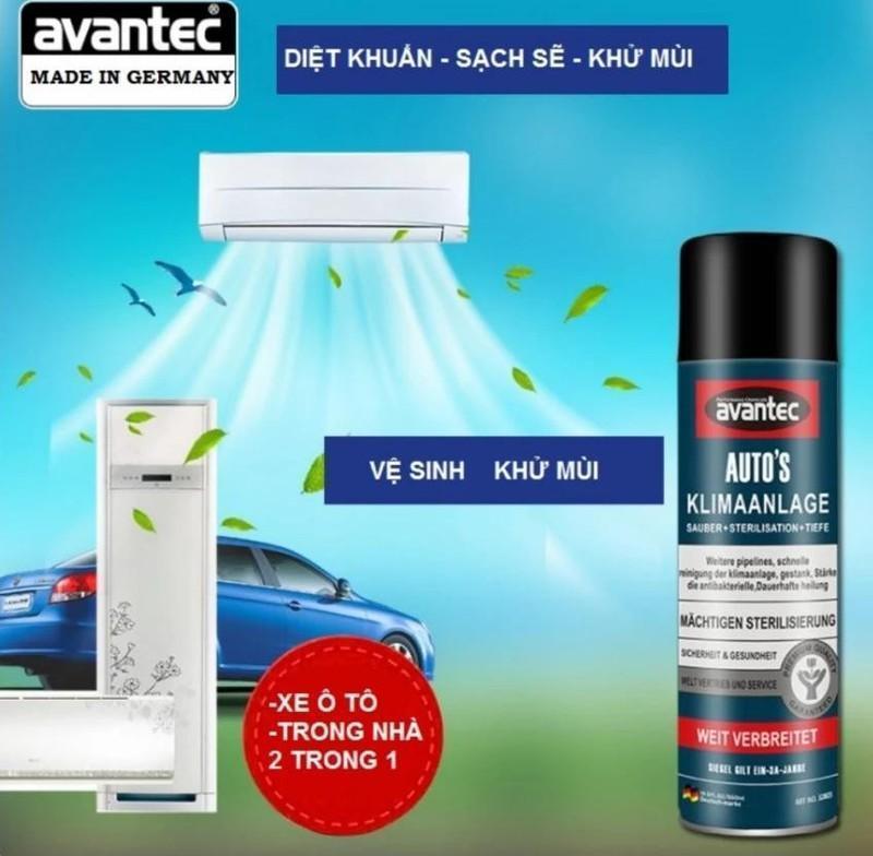 [ HIỆU QUẢ 100 ] Chai rửa máy lạnh trong xe ô tô và trong nhà siêu sạch - Bình Xịt Vệ Sinh Máy Lạnh Ô Tô, Xe Hơi, Diệt Khuẩn Avantec
