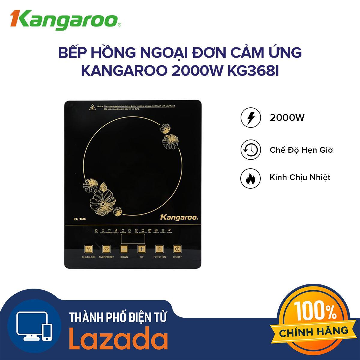 Bếp hồng ngoại đơn cảm ứng Kangaroo 2000W KG368i