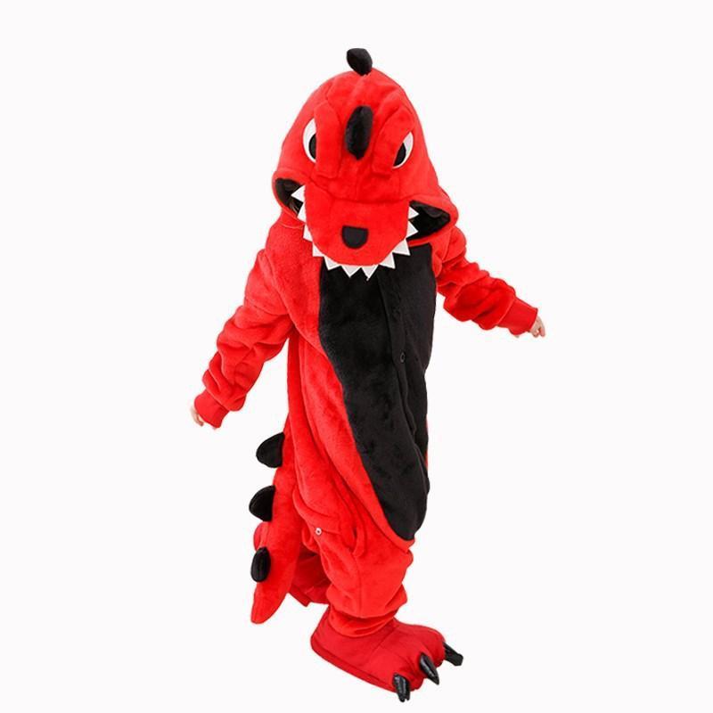 Nơi bán Bộ Đồ Khủng Long xanh cá sấu đỏ liền thân lông mịn Pijama dành Cho Người Lớn và Trẻ Em Đầy Đủ Các Kích Cỡ kiểu dáng Động Vật Hoạt Hình Cosplay Kigurumi Onesie không bao gồm dép và gang tay 1902