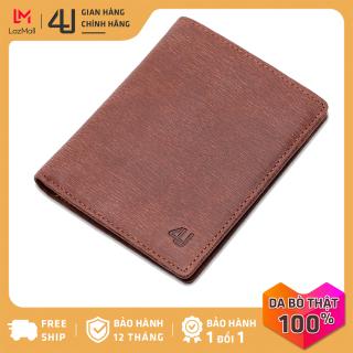 Bóp ví nam da bò thật 4U cao cấp dáng đứng, nhiều ngăn đựng tiền và thẻ F149N (Nâu) thumbnail