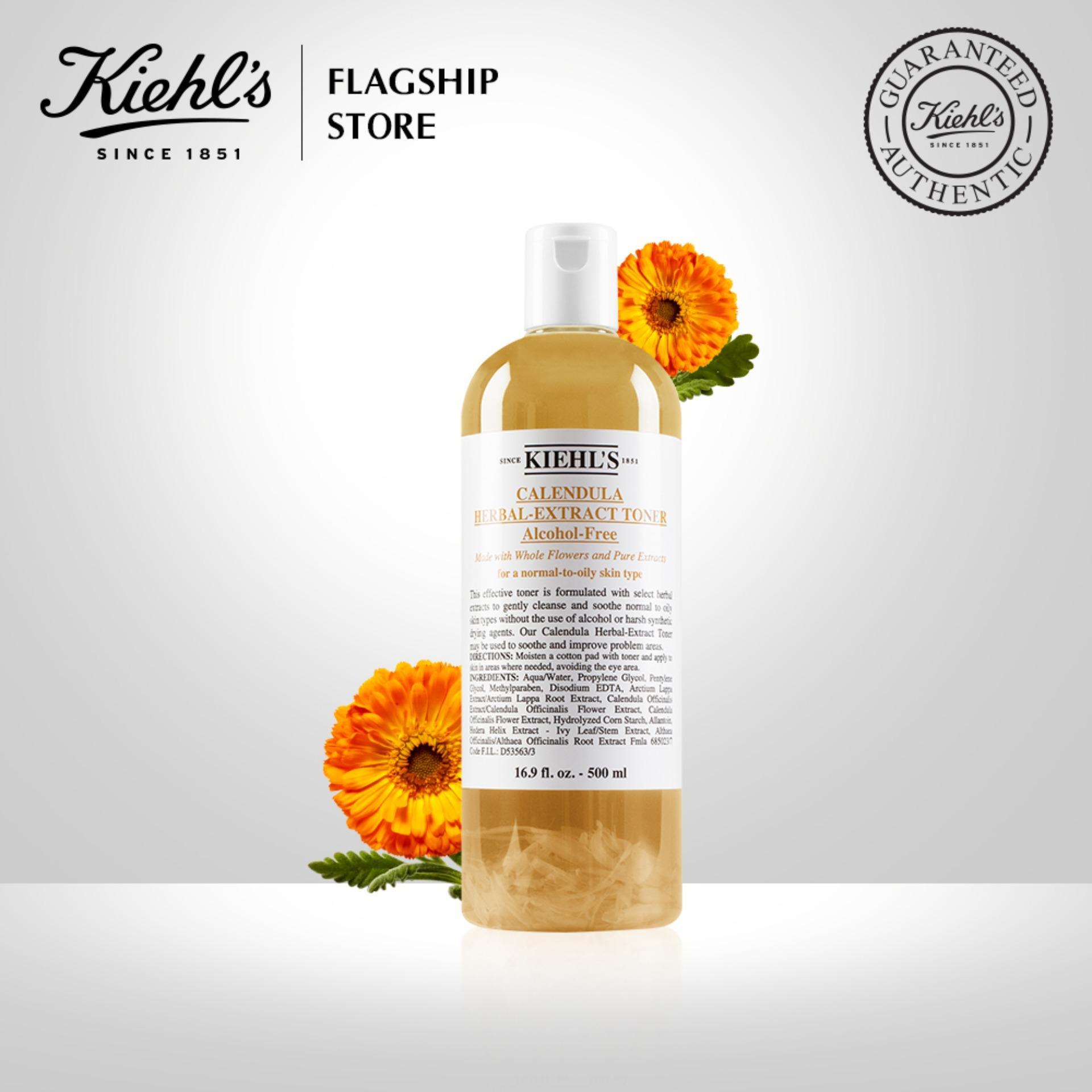 Nước cân bằng (Toner) Hoa Cúc Kiehls Calendula Herbal Extract Alcohol-Free Toner 500ML nhập khẩu