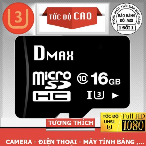 Thẻ nhớ 16GB tốc độ cao U3 , up to 90MB/s Dmax Micro SDHC class 10 - Bảo hành 5 năm