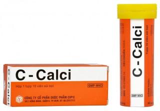 Viên sủi bổ sung vitamin C, canxi C - CALCI 10 viên thumbnail