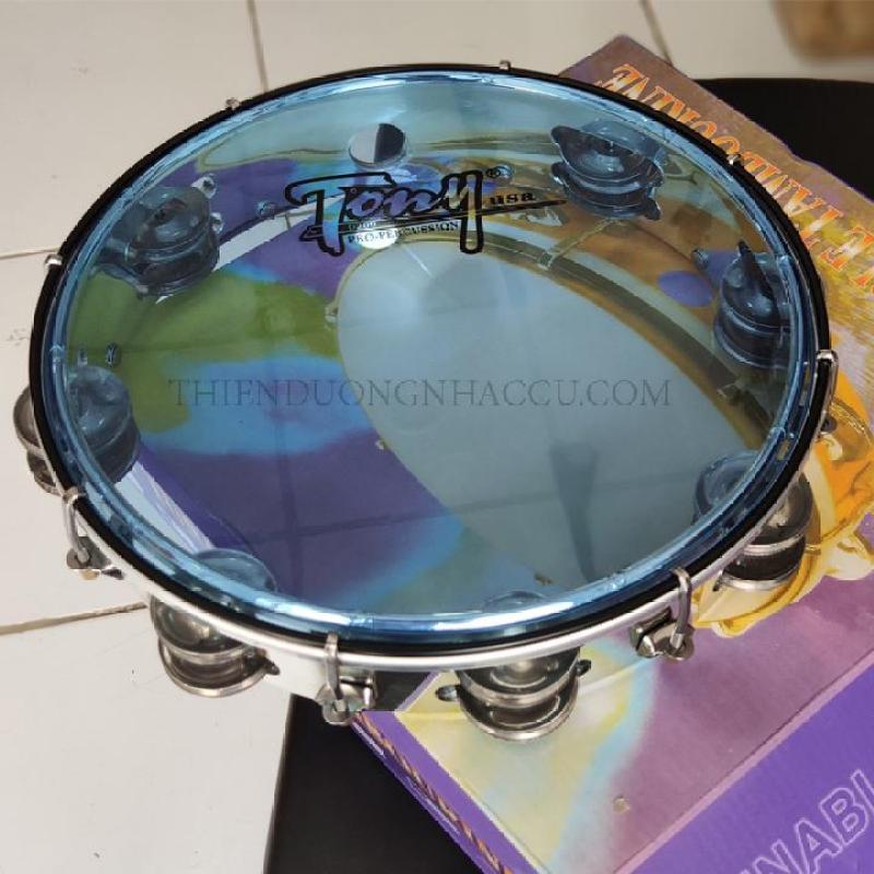 Trống gõ bo - trống lắc tay - lục lạc - tambourine TONY USA