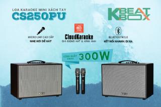 Loa Karaoke mini xách tay ACNOS CS250PU kèm 2 cây micro không dây Võ Nhôm UHF thumbnail