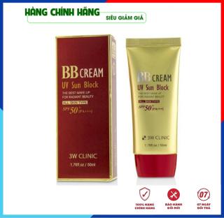 [Hàng Nhập Khẩu Hàn Quốc] Kem nền trang điểm chống nắng BB Cream UV Sunblock 3W Clinic Hàn Quốc SPF 50+PA+++ 50ml thumbnail