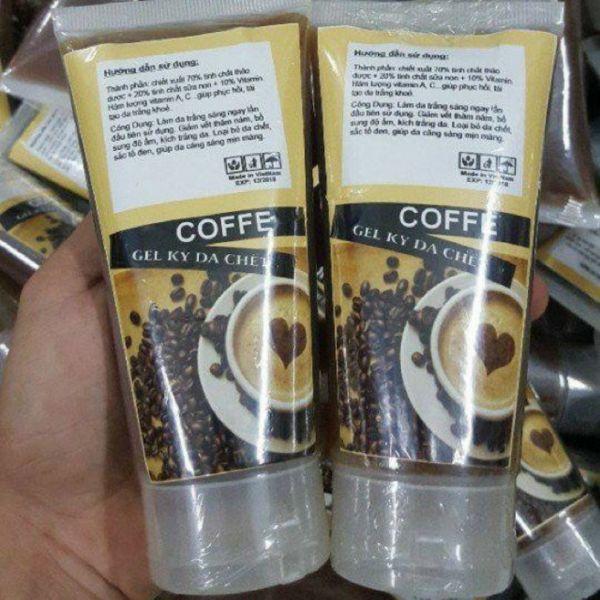 GEL TẨY TẾ BÀO CHẾT FACE VÀ BODY HƯƠNG CAFE. cao cấp