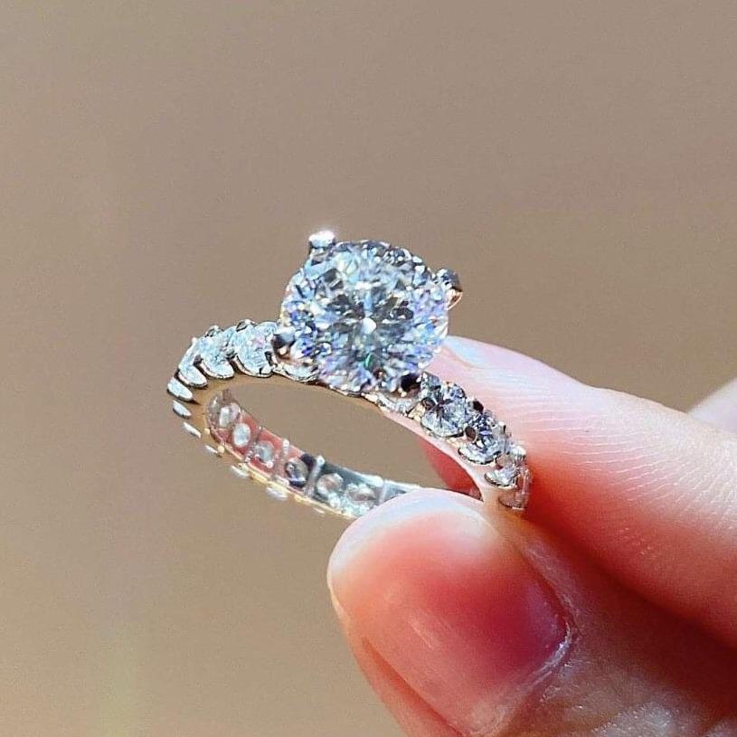 [HCM]Nhẫn nữ nhẫn hoa mạ bạch kim cao cấp hoa mai đính đá pha lê sáng xinh lấp lánh siêu xinh đẹp cao quý duyên dáng thời trang Trang Sức Miga N127 - dùng đi tiệc cực kì sang chảnh