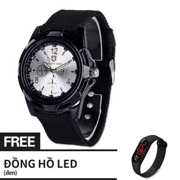【Miễn phí Jam LED】Đồng hồ Unisex dây nato thời trang, kiểu dáng thể thao, đẹp phù hợp mọi độ tuổi