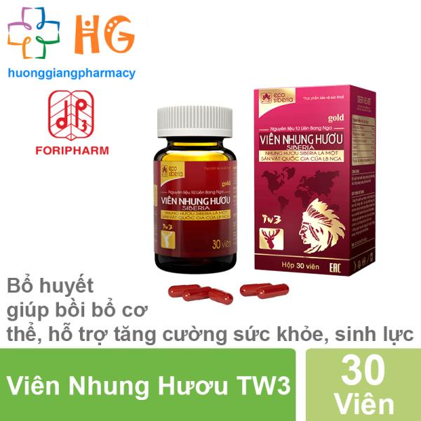 Viên Nhung Hươu TW3 - Bổ huyết, giúp bồi bổ cơ thể, hỗ trợ tăng cường sức khỏe, sinh lực (Lọ 30 Viên)
