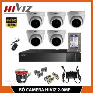 TRON BỘ 5 CAMERA HIVIZ 5 MẮT FULL HD 2.0MP TRONG NHÀ thumbnail