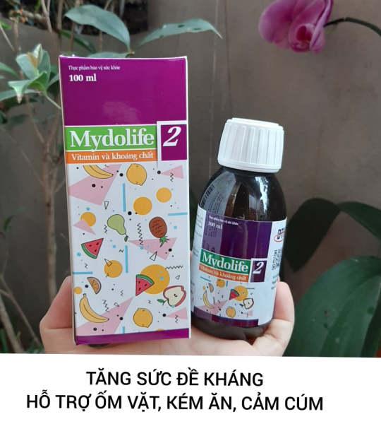 Mydolife 2 Tăng Sức Đề Kháng Bổ Sung Vitamin Và Khoáng Chất 100ml