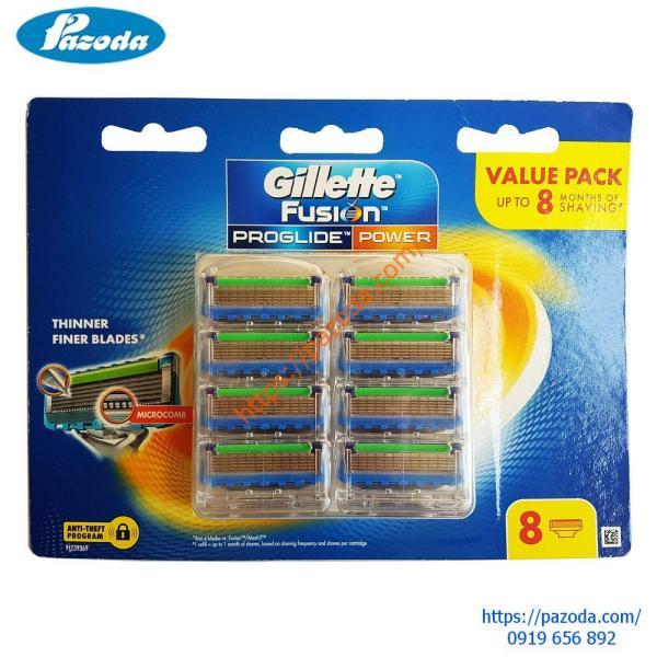 Hộp 8 lưỡi dao cạo râu Gillette Fusion Proglide Power giá rẻ