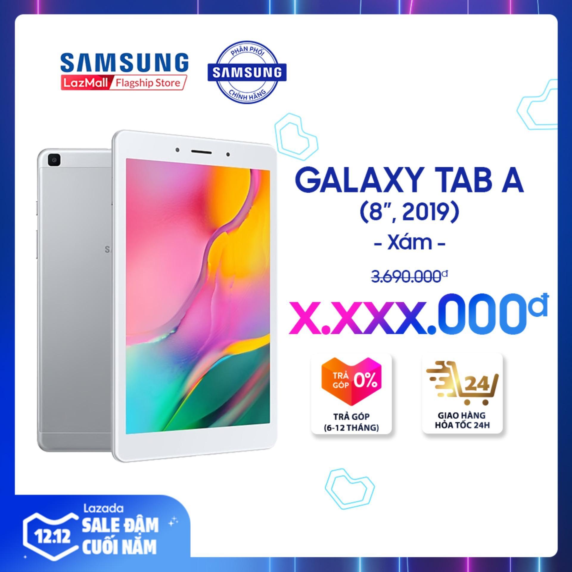 Offer Ưu Đãi Máy Tính Bảng Galaxy Tab A SM-T295 32GB (2GB RAM) 2019 - Màn Hình 8 Inch, Tỷ Lệ 16:10 Full HD + Trọng Lượng Chỉ 347g Mỏng Nhẹ + Hỗ Trợ Thẻ Nhớ đến 512GB + Pin 5100 MAh - Hàng Phân Phối Chính Hãng.