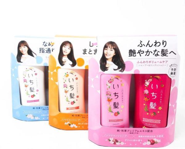 Gội xả Ichikami non-silicon set 2 Hàng nội địa Nhật Bản giá rẻ