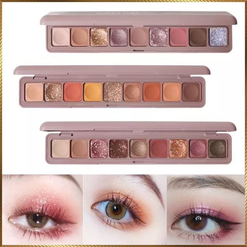 Bảng phấn màu mắt dài 9 ô màu Lameila Beautiful Color LBC8