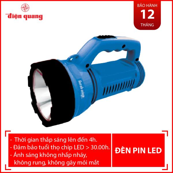 Đèn Pin LED Điện Quang ĐQ PFL08 R BBL (Pin sạc, Xanh dương - Đen)