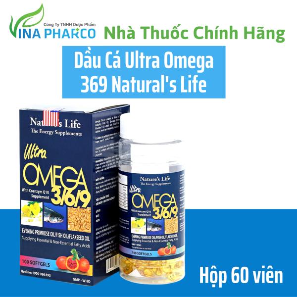 Dầu Cá Ultra Omega 369 - Hộp 100 viên - Làm giảm mỏi mắt, khô mắt nhập khẩu