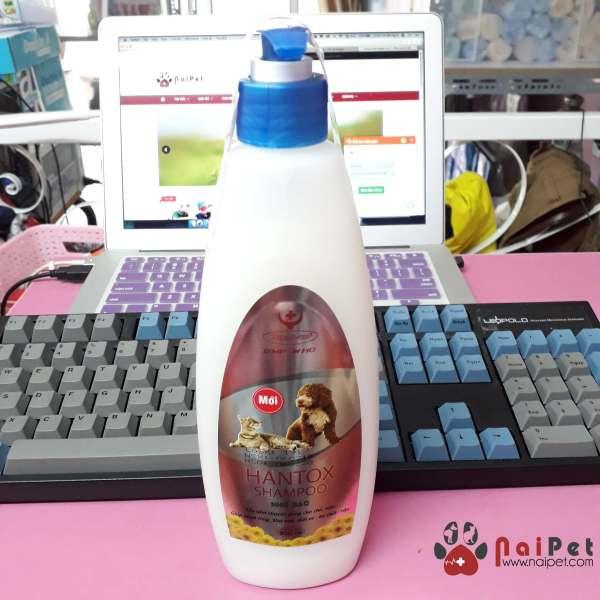 Sữa Tắm Giúp Mượt Lông Khử Mùi Diệt Ve Bọ Chét Rận Hantox Shampoo Nhũ Bạc Mới 300ml