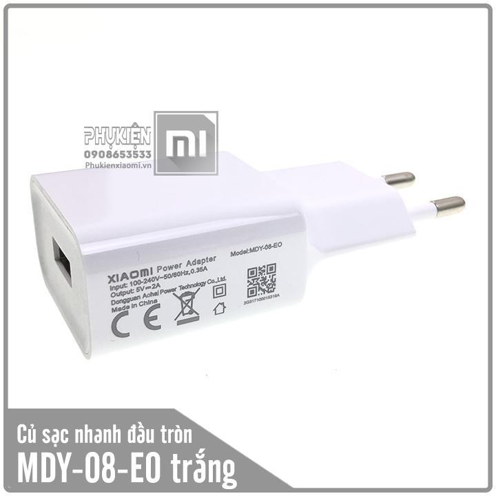 Củ sạc cho các dòng máy Xiaomi 5V/2A MDY-08-EO hai chấu tròn màu trắng