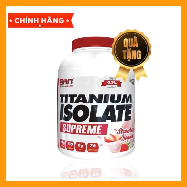 WHEY PROTEIN - SAN - TITANIUM ISOLATE SUPREME- 5lbs - Bổ sung protein tăng cơ giảm mỡ - Từ USA