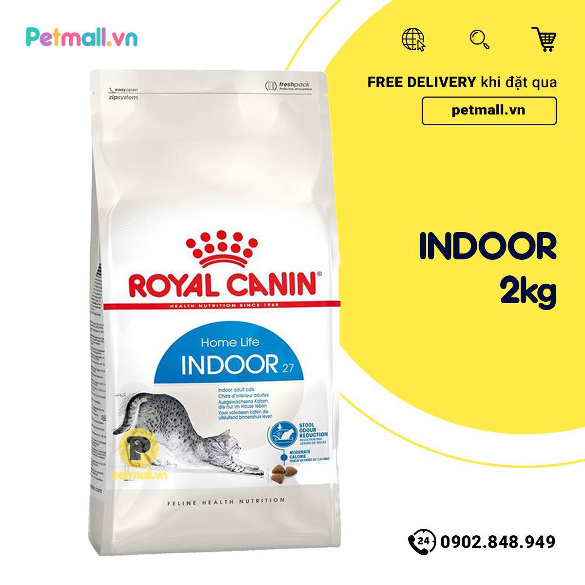 Mã Khuyến Mại Thức ăn Mèo Royal Canin INDOOR 2kg
